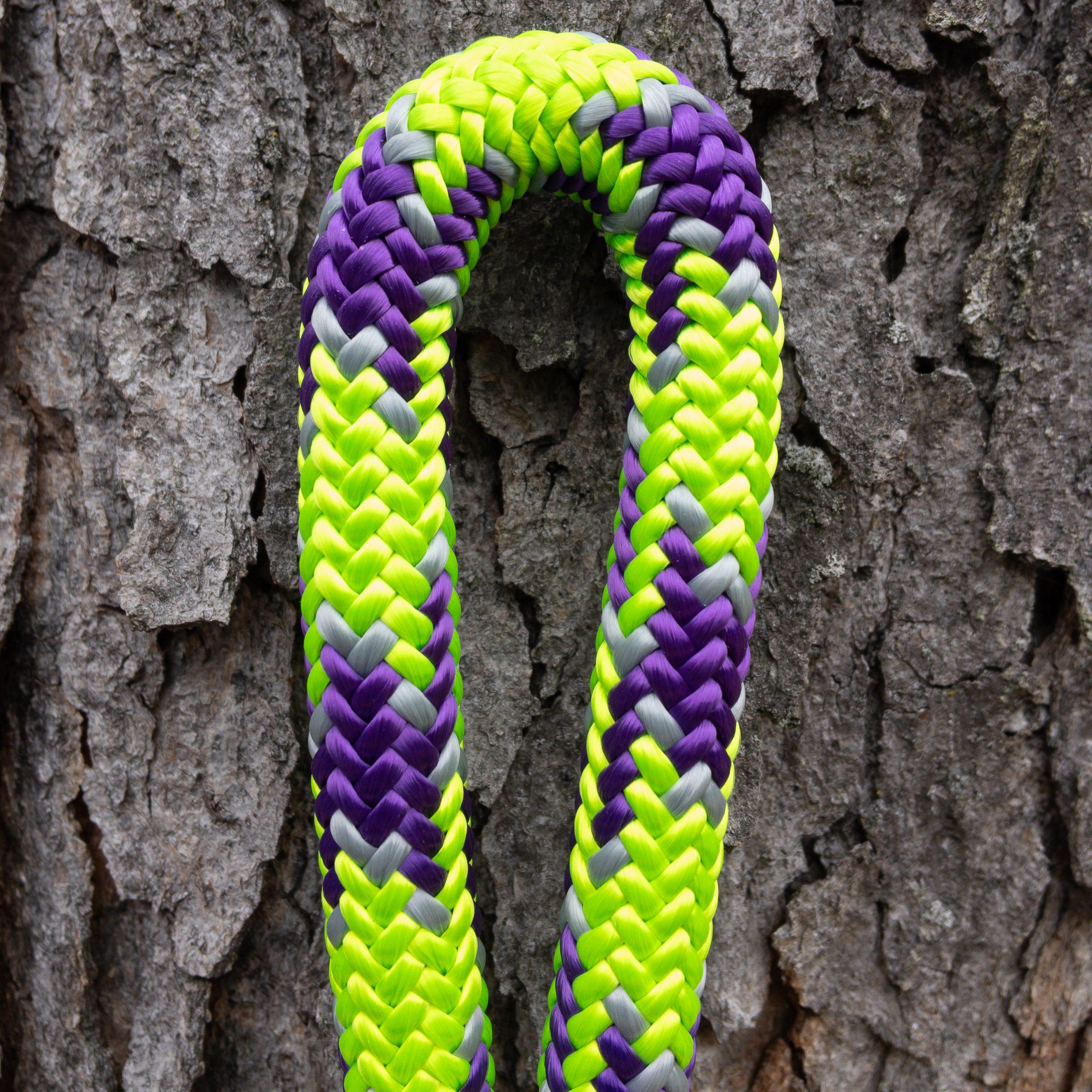 24 strand 11.8 mm Mardi Gras Neon Green / Purple / Grey (GPG)