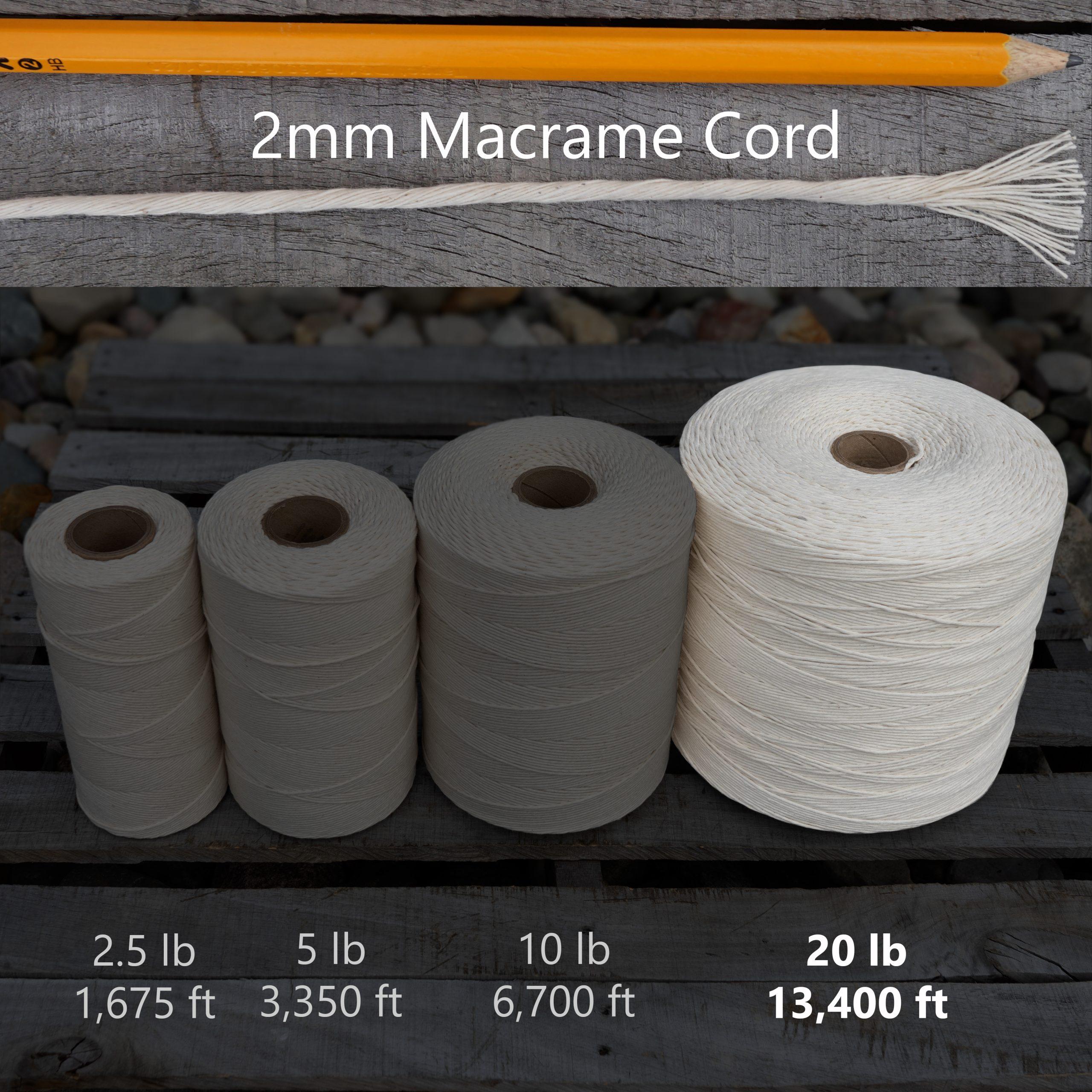 2 mm x 20 lb macrame tube