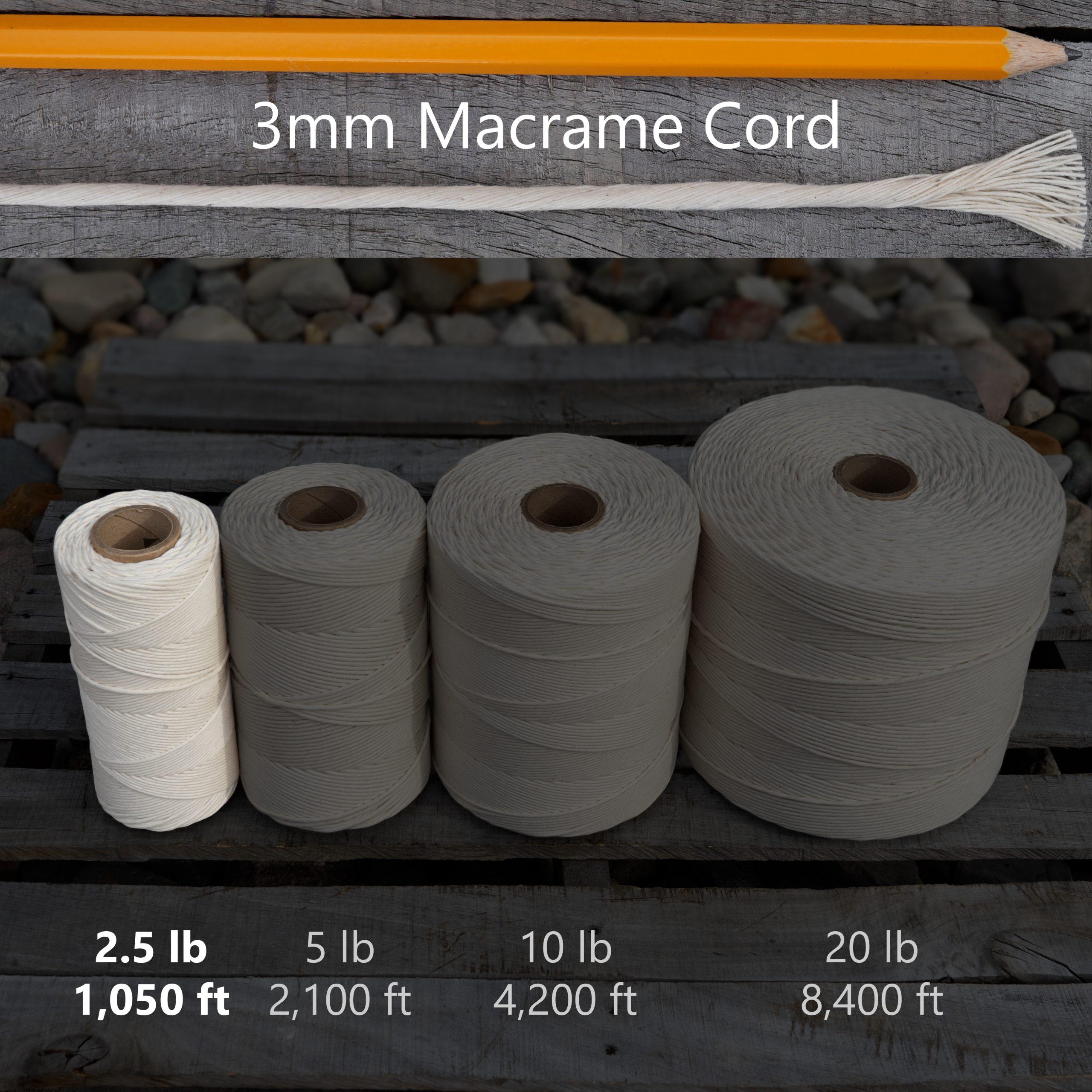 3 mm x 2.5 lb macrame tube
