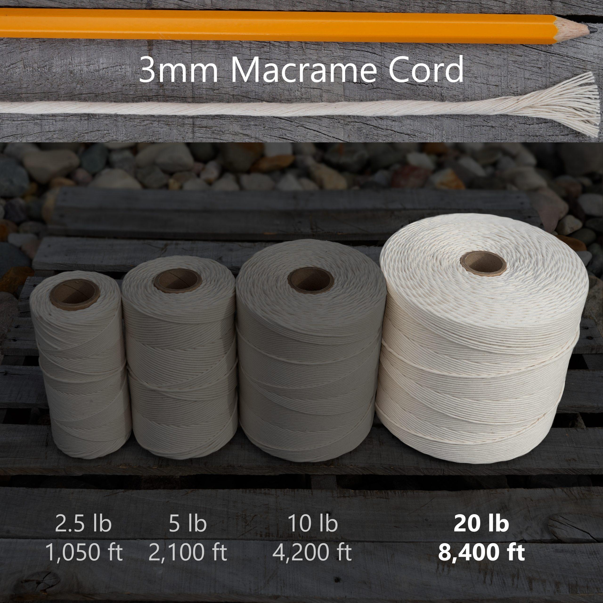 3 mm x 20 lb macrame tube