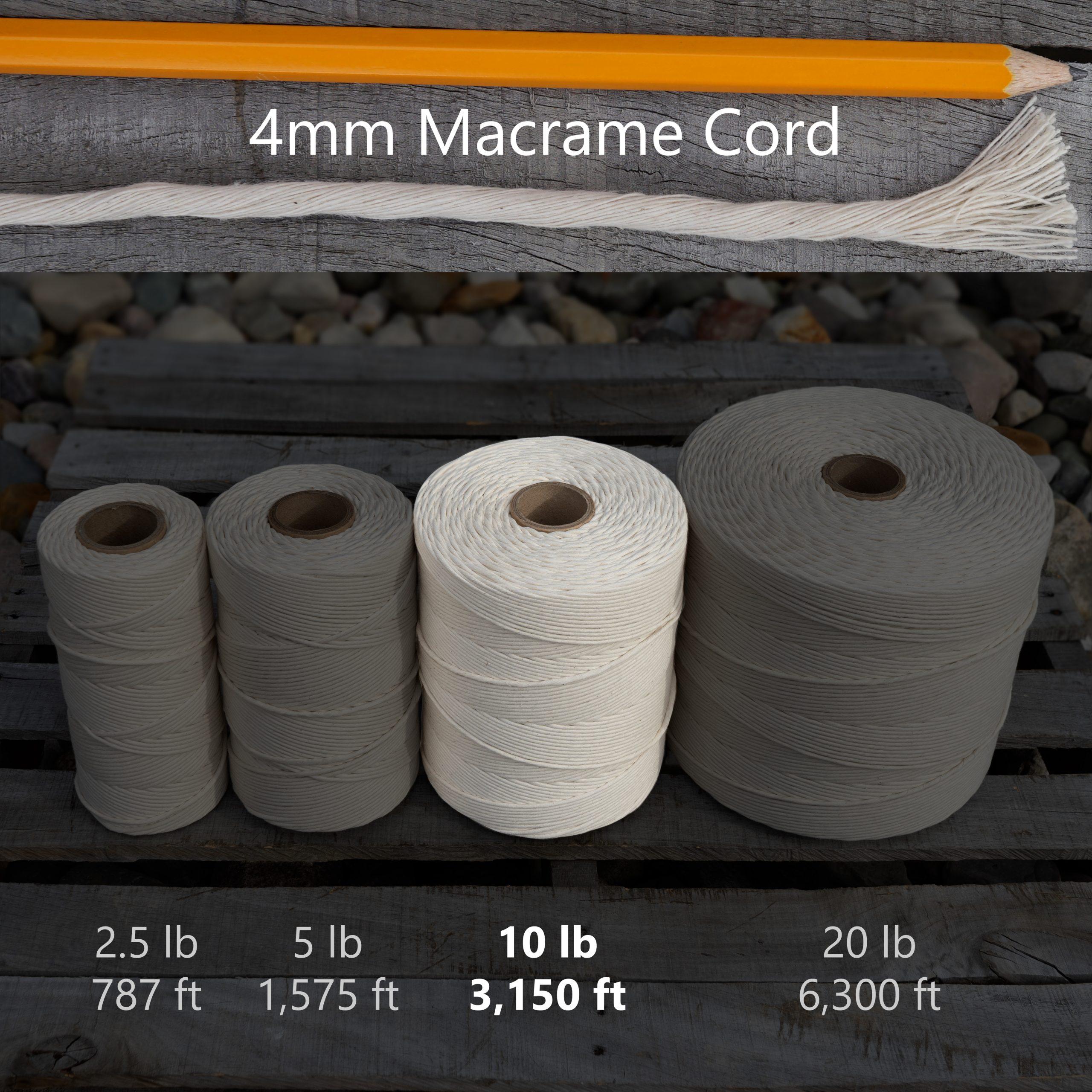 4 mm x 10 lb macrame tube