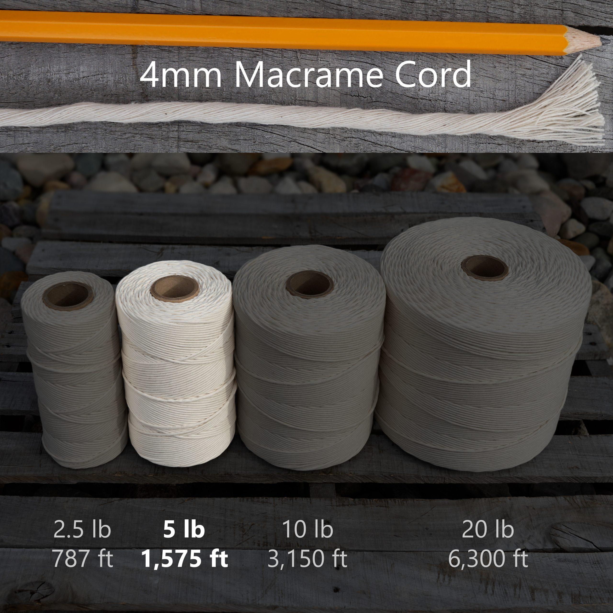 4 mm x 5 lb macrame tube
