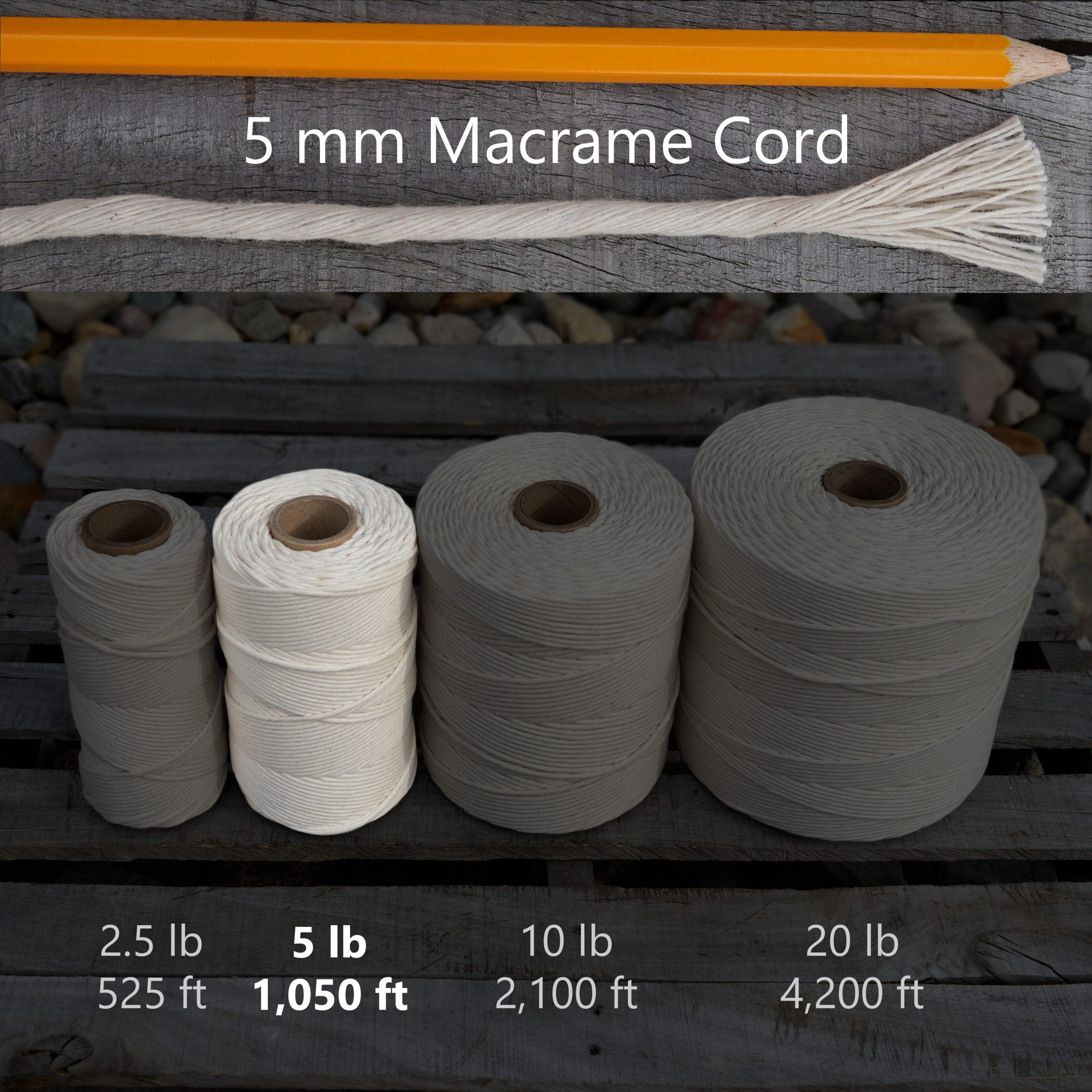 5 mm x 5 lb macrame tube