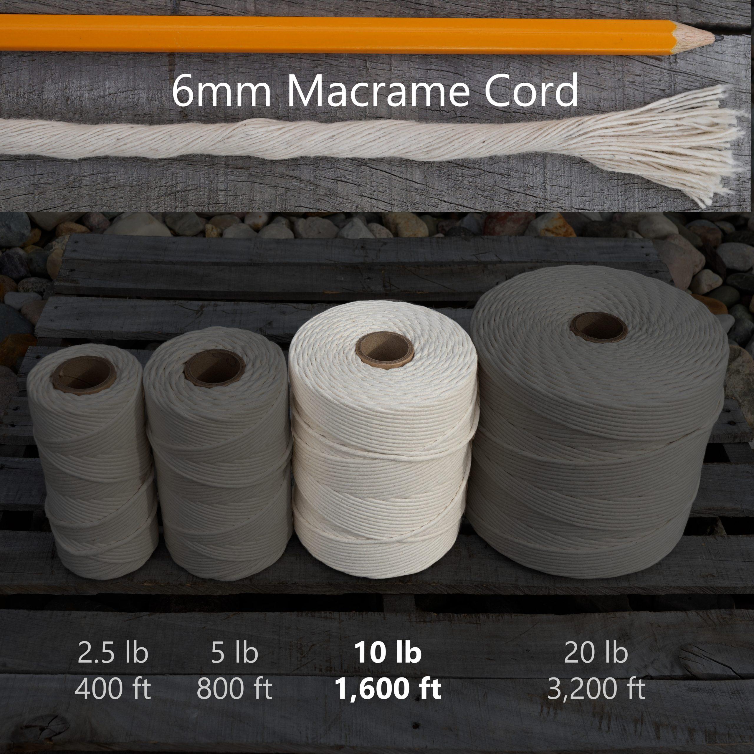 6 mm x 10 lb macrame tube